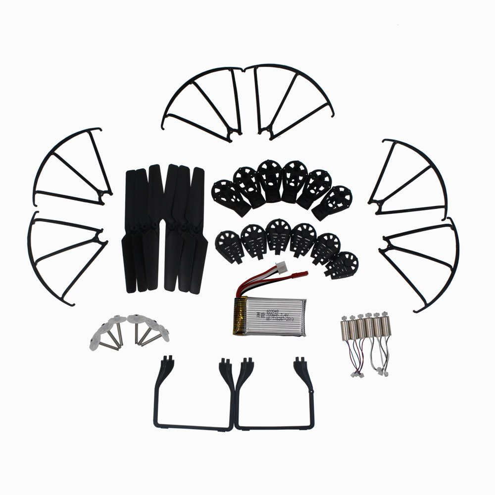 MJX X600 RC Quadcopter Spare Parts Crash Pack Kit Replacement Main Blade Propellers & Motor & Propeller Protectors Blades Frame quadcopter spare parts crash pack remote control parts