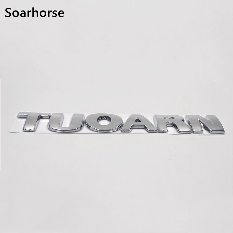 Soarhorse New Emblem For Touran Letters Logo Car Rear Trunk Badge Nameplate Sticker For Volkswagen VW Touran soarhorse car rear trunk lid emblem badge nameplate decal for chevrolet cruze letters logo sticker