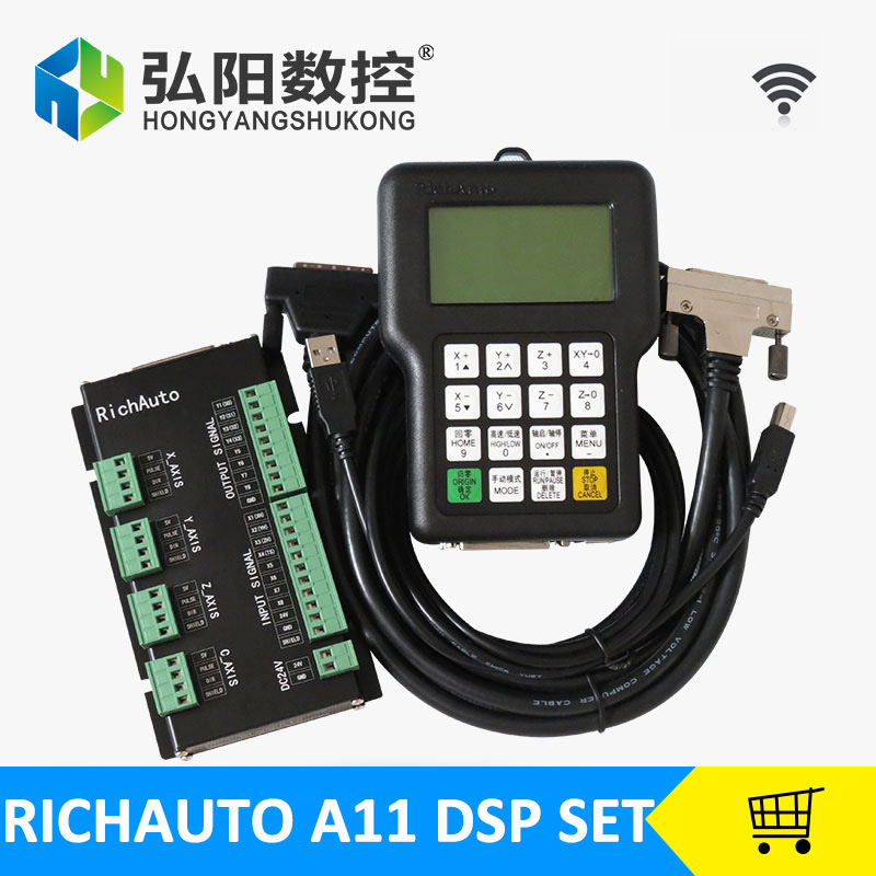 RichAuto A11 DSP controller for cnc router control dsp a11s/a11e board data line все цены