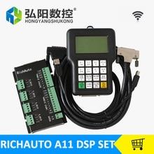 RichAuto DSP A11 ЧПУ A11S A11E 3 оси Пульт дистанционного управления для ЧПУ TECNR ЦОС-контроллер управления коммуникационными сетями