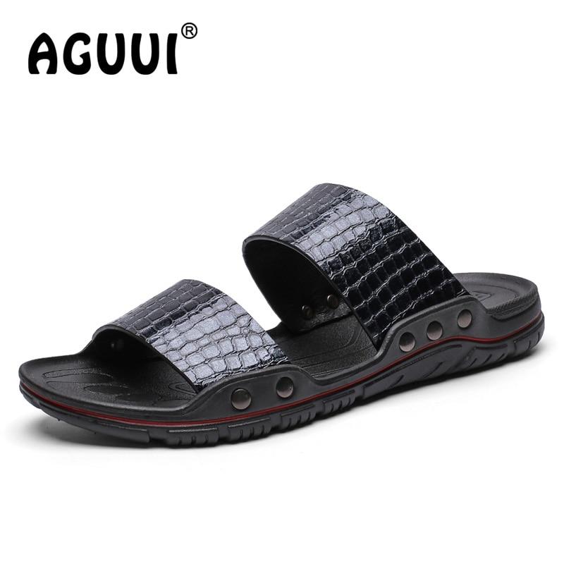 Flip Verão navy Praia white Sapatos Respirável Pu De Crocodilo Planas Homens 2019 Homem Chinelos Black Flops blue q1URBwP