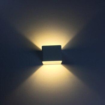 5 واط مربع الألومنيوم بسيط جدار مصباح حائط الخلفية مصباح للزينة