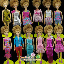2015 30items=10suit+10 shoes+10 accessory new arrvial high quality genuine dress cloth suit set for barbie doll