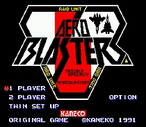 Aero blasters 16 bit MD card with Retail box for Sega MegaDrive Video Game console system 1