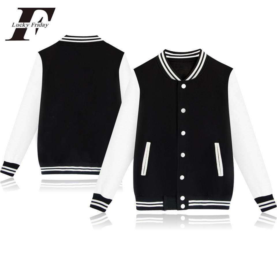 LUCKYFRIDAYF Hip Hop Winter Jacket Women College Sportswear Fleece Jaqueta Feminina Jacket And Button Women Jacket Sweatshirt(China)