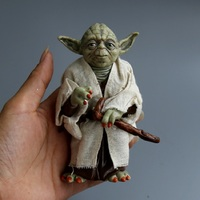 Promotion Star Wars Action Figure Toys Jedi Knight Master Yoda PVC Figures Toys 12cm Children Birthday