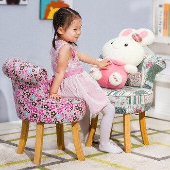 Children chair kindergarten solid wood +cotton fabric sofa chair Children Furniture whole sale hot new 2017 European style