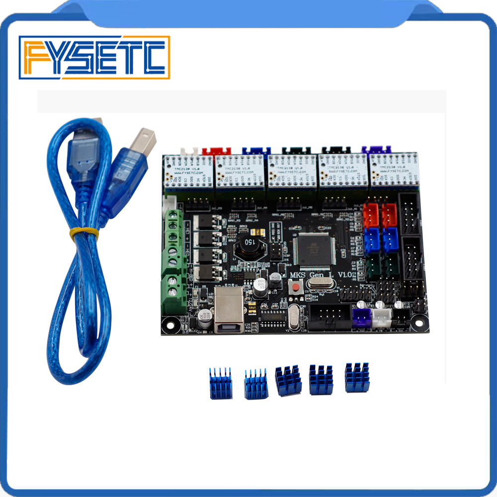 MKS Gen-L V1.0 Integrated Mainboard MKS Gen l v1.0 Compatible Ramps1.4/Mega2560 R3 + 5pcs TMC2130 v1.0 Stepper Drivers mks gen l v1 0 integrated mainboard mks gen l v1 0 compatible ramps1 4 mega2560 r3 with 5pcs tmc2100 v1 3 stepper drivers
