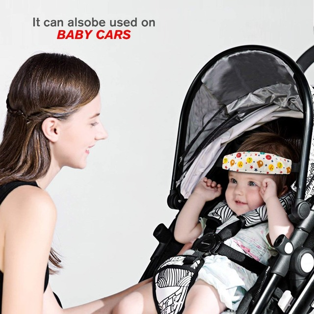 Baby Car Seat Head Support Soft Kids Auto Safety Seat head holder fixing band Sleep Nap Belt Interior Accessories Car Styling