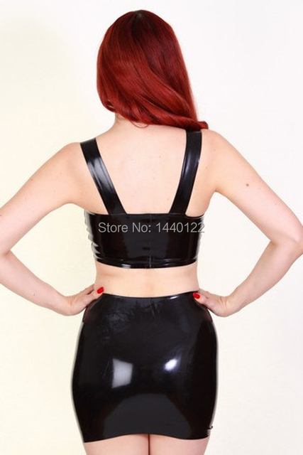 Black Sexy Latex Women's Tops And Mini-Dress 100% Natural Rubber Clubwear Plus Size Hot Sale Customize service