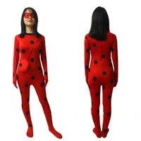 Women Kids Girls Miraculous Ladybug Costume Cosplay Costumes High Quality Tailor Ladybug Suit Ladybug Suit 150