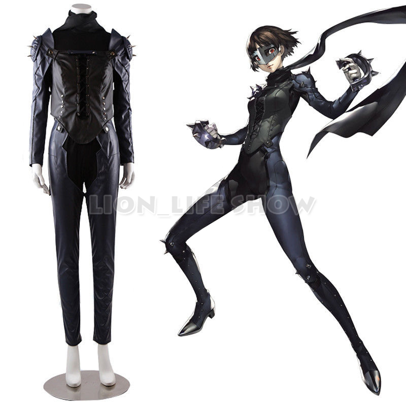 Persona 5 Makoto Niijima Queen Kaitou Uniform Outfit Cosplay Costume With Mask