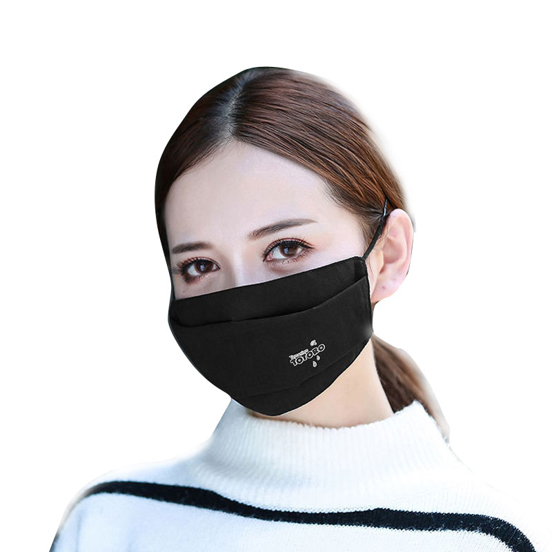 1Pcs Fashion 3 Layer Anti Dust Face Mouth Cover Mask Respirator - Dustproof Anti-bacterial Washable - Reusable Comfy Masks