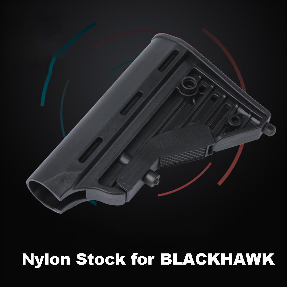 Airsoft Nylon Stock For BLACKHAWK For Airsoft Air Guns Accessories Paintball AEG Gel Blaster JM9 Gearbox CS Sport Tactical