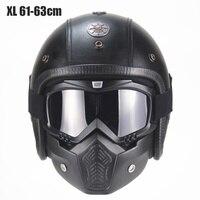 Cool Motorcycle Helmet Personality Retro Harley Helmet Flip Visor Waterproof Helmet