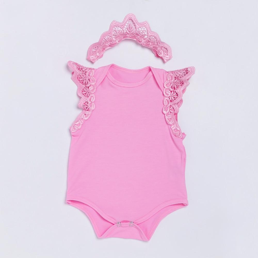 YK & Amando Rosa Macacão de Bebê Meninas Roupas Infantis Sem Mangas Floral Rendas Bebê Recém-nascido Do Bebê Crown Estilo Verão Do Bebê Da Menina roupas
