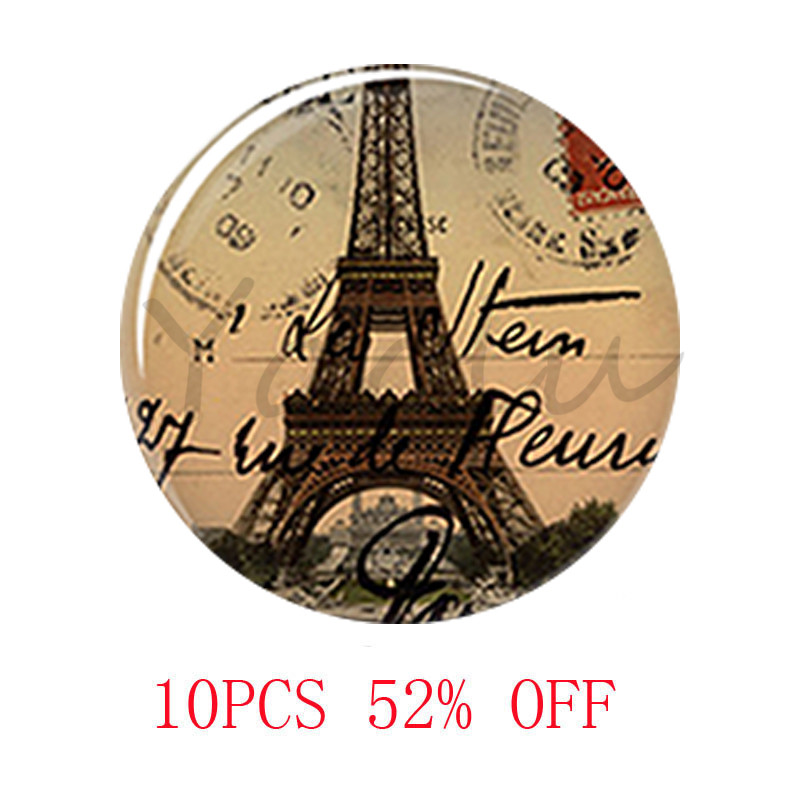 Postcard From Paris Photo necklace France Paris French Eiffel glass Photo Cabochon Necklace keyring bookmark cufflink earring