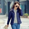 Designer de inverno mulheres jaqueta de pato branco para baixo ultra fino branco pato para baixo mulheres jaqueta para a menina da neve jaqueta parka y50