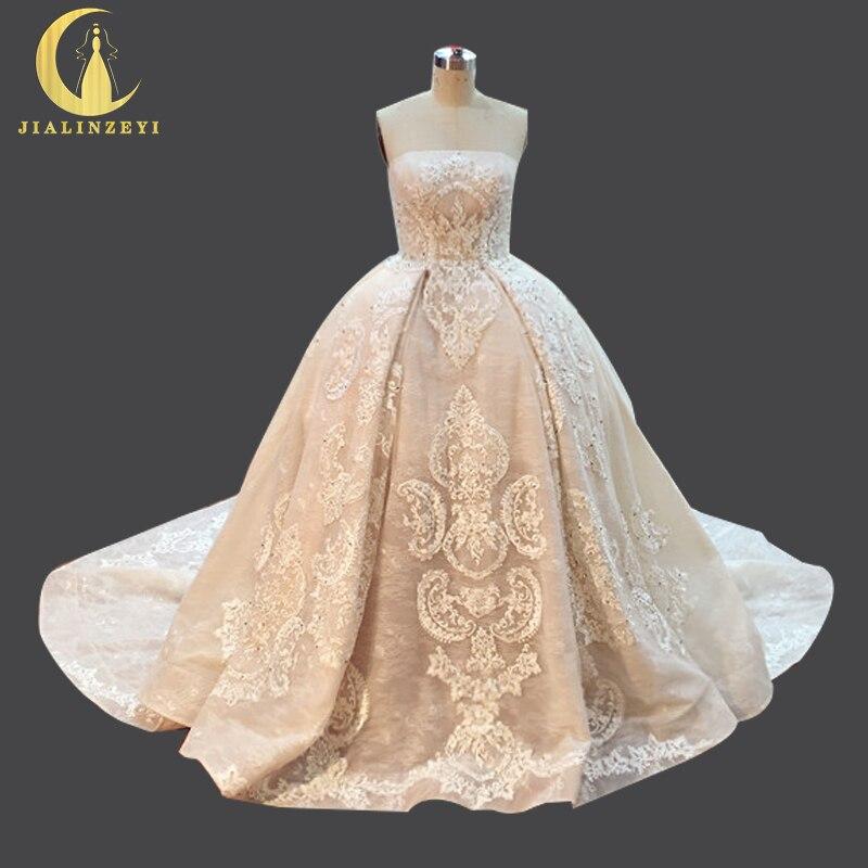 Buy jialinzeyi sexy luxurious strapless for Elie saab wedding dress for sale
