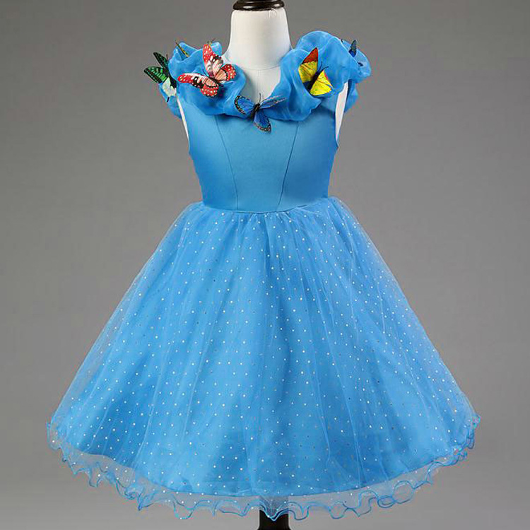 2015 children fantasy kids cinderella Princess Dress girl snow white ...