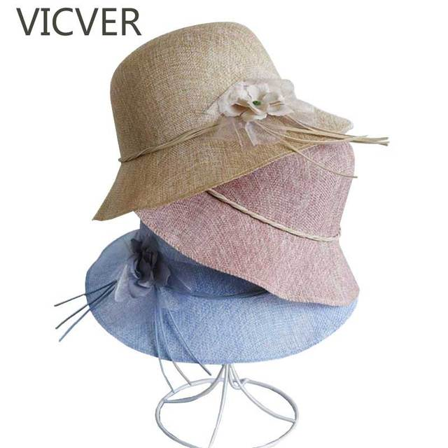c0d235e22 Summer Straw Sun Hats For Women Flowers Beach Cap Newest Casual Elegant Ladies  Sun Protection Caps