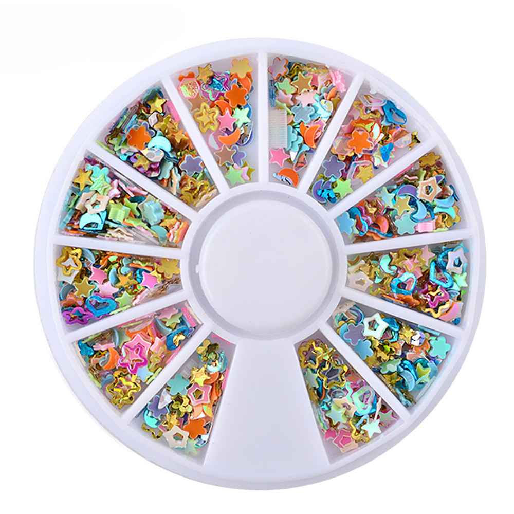 1 Wheel Hot 20GBox 3D Decal Stickers Nail Art Tip DIY Decoration Stamping Manicure Colorful Beauty Nail Art Accessories
