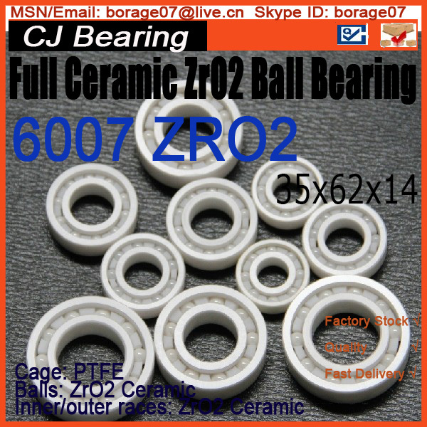 Full Ceramic bearing 6007 zro2 ceramic ball bearing 15268 ceramic wheel hub bearing zro2 15268 15 26 8mm full zro2 ceramic bearing
