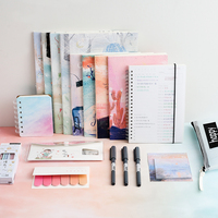 Lovely Student Learning Supplies Set Stationery Set Notebook Book Gift Notebooks Pens Sticky Notes Rulers