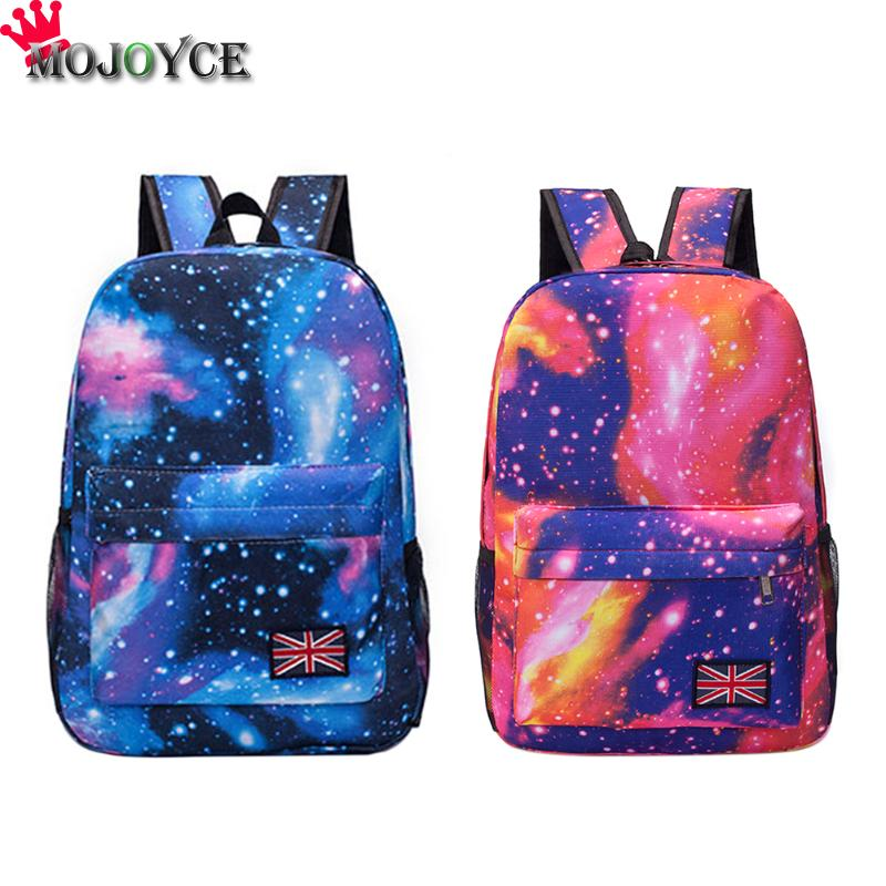 Fashion Women's Canvas Backpack Starry Sky School bag For Girl Ladies Teenagers Casual Travel Bags Universe Space School Bag big bow women canvas backpack school bag for girl dot lace ladies teenagers casual travel bags schoolbag backpack