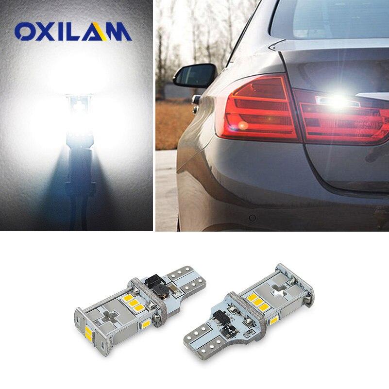 где купить OXILAM Canbus T15 W16W 912 921 LED Bulb Car Back Up Reverse Lights For Audi A3 A4 A5 A6 BMW E90 E91 E92 E93 Ford Focus Mazda 6 по лучшей цене