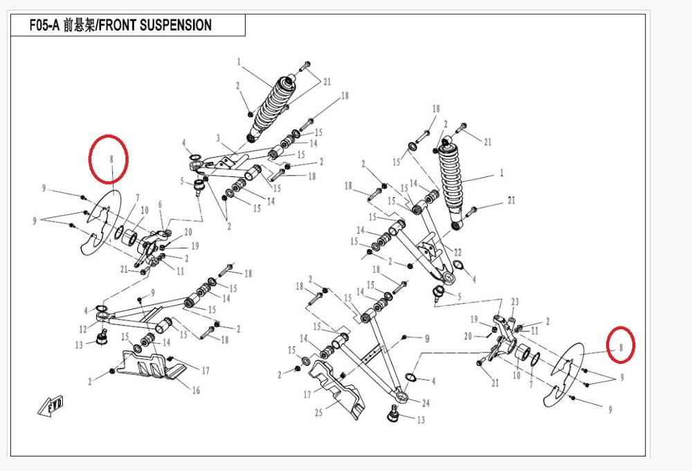 3 PAIRS FRONT DISC BRAKE SUIT FOR CFMOTO/CF550ATV PARTS