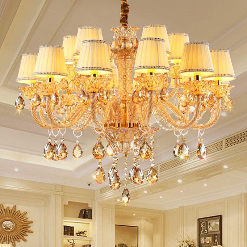Moderní křišťálový lustr svítidla do jídelny Ložnice Kuchyně velký lustr K9 kandované lustre de cristal teto