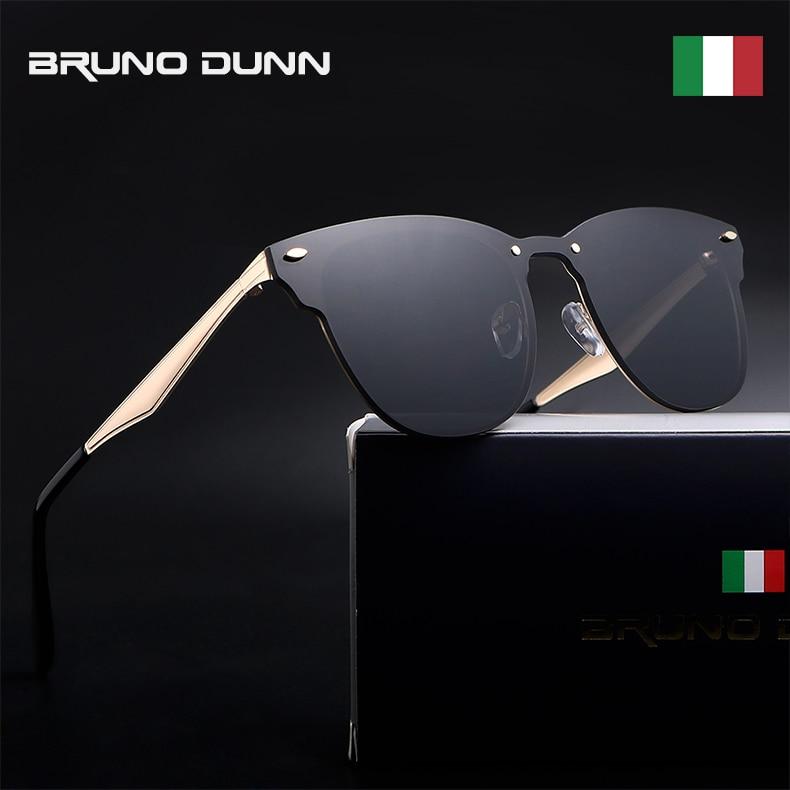 Bruno dunn marca Unisex Retro de aluminio espejo gafas de sol Vintage  Eyewear accesorios conducción masculina gafas de sol para hombres mujeres  ray 0b070848ed