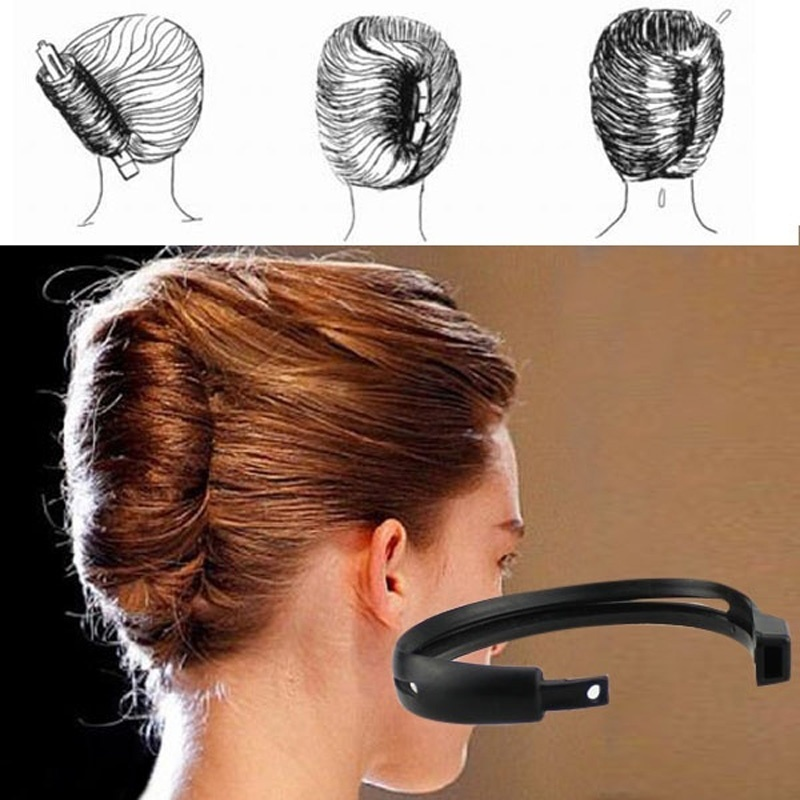 2pcs/set Magic Hair Quick Maker Hair Band Bud Round DIY Updo Donut Hair Styling Tools Headband For Women Hair Accessories
