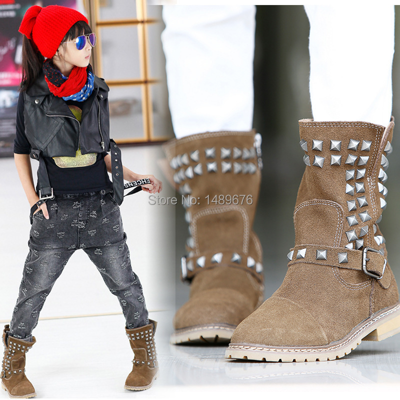 2014 latest autumn and winter kids children baby boots girls boots ...