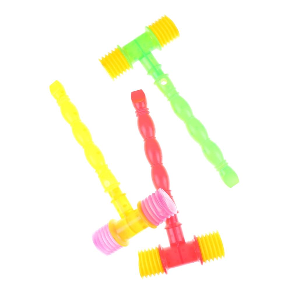 Toys Hammer Baby Noise-Maker Plastic Kids Built-In-Whistle 25CM Handle Training Toddler