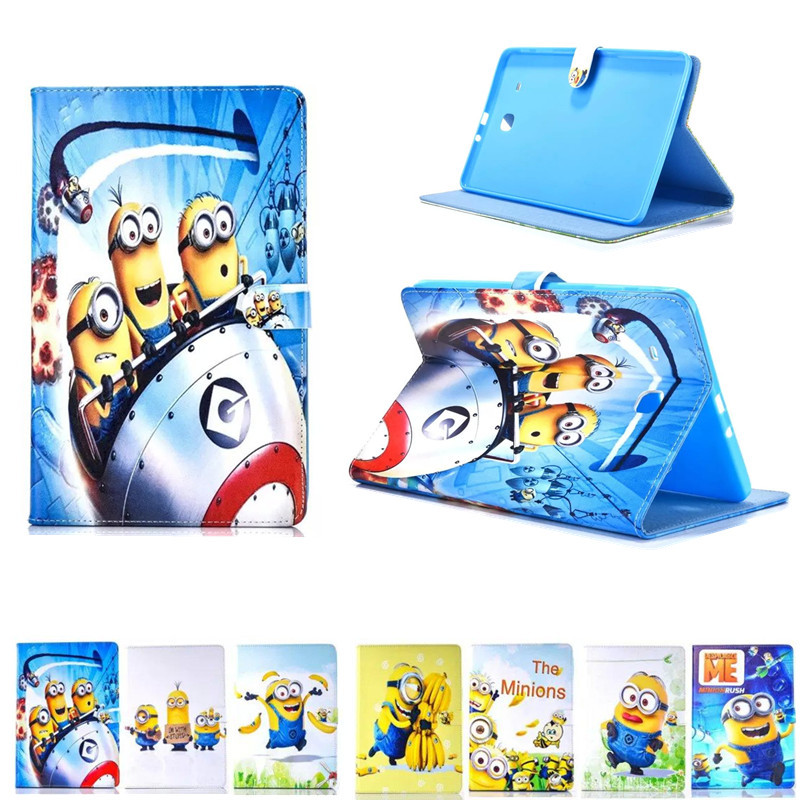 Tablet Case For Samsung Galaxy Tab E T560 T561 9.6 inch Cartoon Series Frozen Princess Despicable Me Minion Stand Leather Cover luxury flip stand case for samsung galaxy tab 3 10 1 p5200 p5210 p5220 tablet 10 1 inch pu leather protective cover for tab3