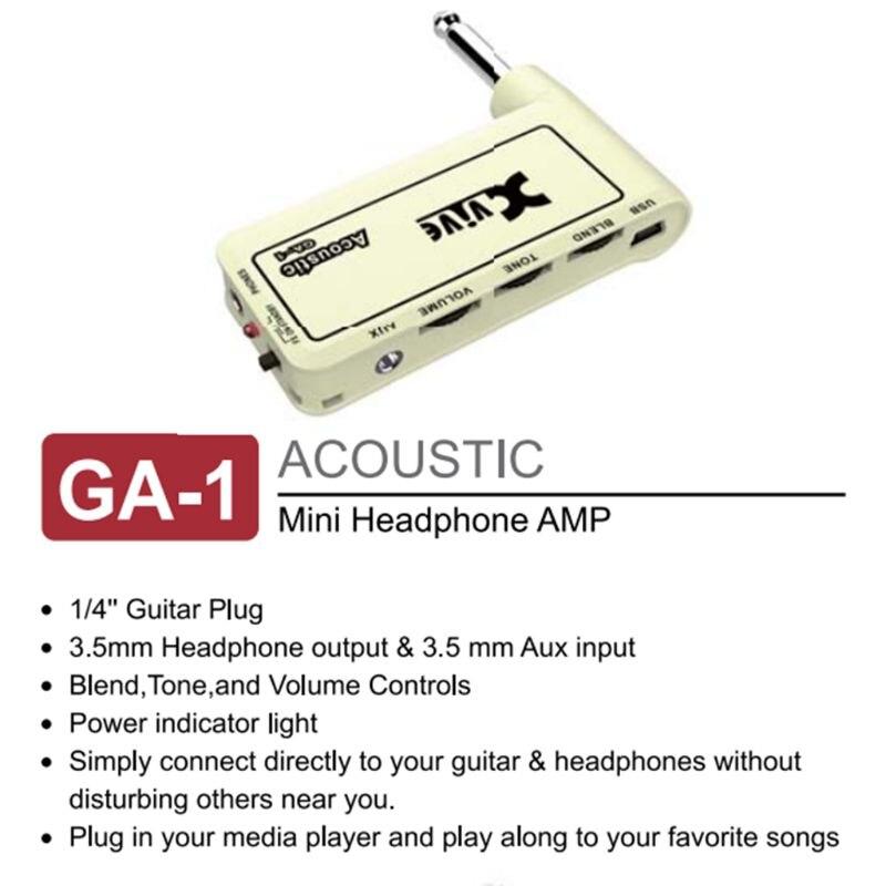 Guitar Accessories 1Pc Guitar Plug Mini Portable Recharge Elec Headphone Amp Amplifier Acoustic/ Rock/ Metal/ Delay dropshipping