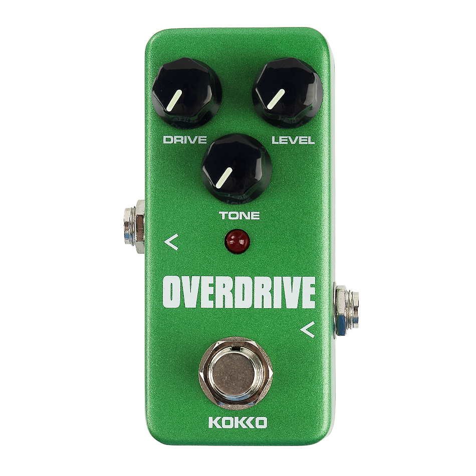 KOKKO FOD3 Mini Overdrive Guitar Effect Pedal Portable Guitar Effects Pedal Stompbox True Bypass kokko fbs2 mini guitar effect pedal guitarra booster high power tube electric guitar two segment eq effect device parts
