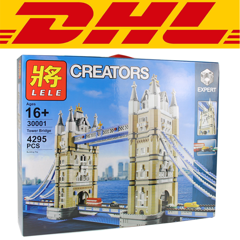 2018 New LELE 30001 4295Pcs City The Tower Bridge Model Building Kits Blocks Bricks Toy For Children Compatible With 10214 new 1048pcs building blocks children lepins education toy baby gifts the spasskaya tower of moscow kremlin model building blocks