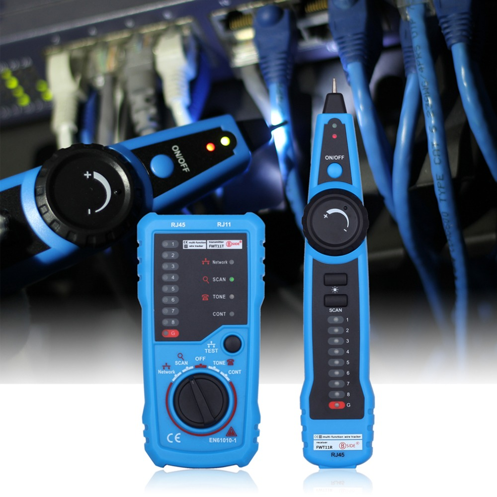 RJ11 RJ45 Cat5 Cat6 Telephone Wire Tracker Tracer Toner Ethernet LAN Network Cable Tester Detector Line Finder new rj45 rj11 ethernet lan network cable tester wire tracker detector telephone wire tracer line finder tester with bnc terminal