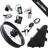 JS 1000W 48V Rear Motor Wheel Suit For 26 4.0 Fat Tire Bike Electric Bike Kit 48V Lithium Battery 20 26 700C LCD Display5