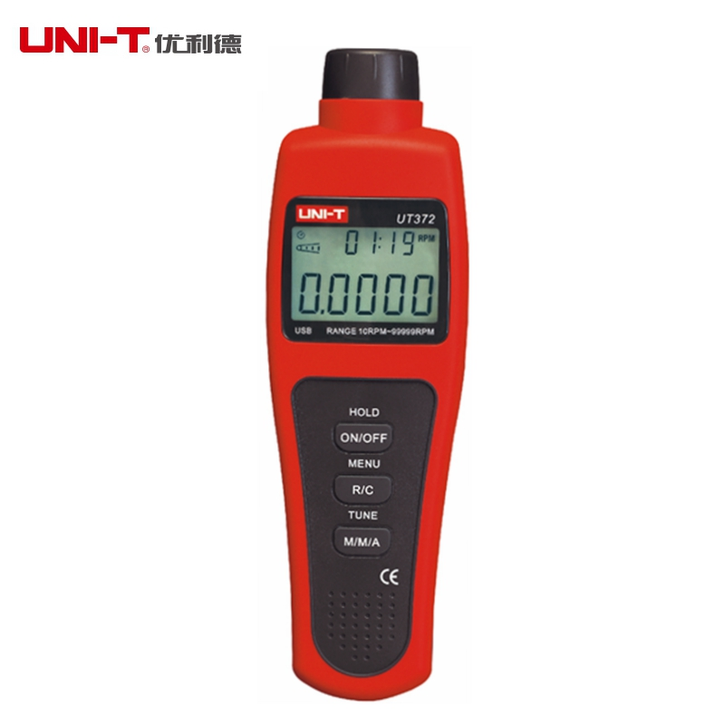 UNI-T UT372 No-contact Tachometers USB Interface 10-99999 RPM Speed Monitor LCD Display AVG/MAX/MIN Mode uni t ut372 non contact tachometer with measuring range 10 to 99 999 rpm