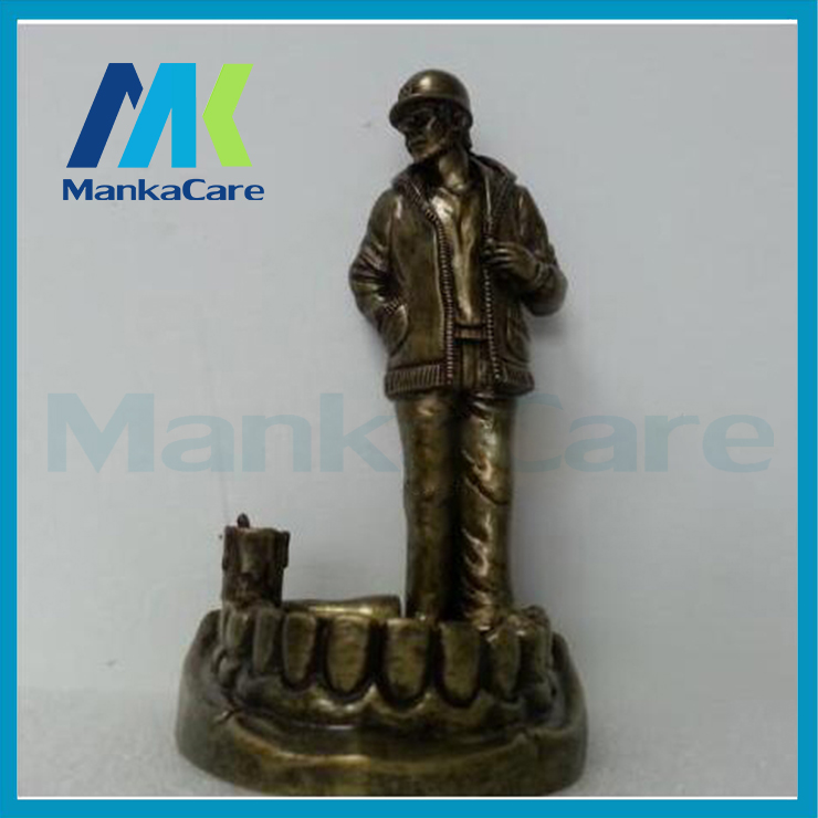 Vivid Thinker Coppery Resin Artwork Souvenir Craft Accessories Furnishing for Dental Gift, Clinic and Medical Decor