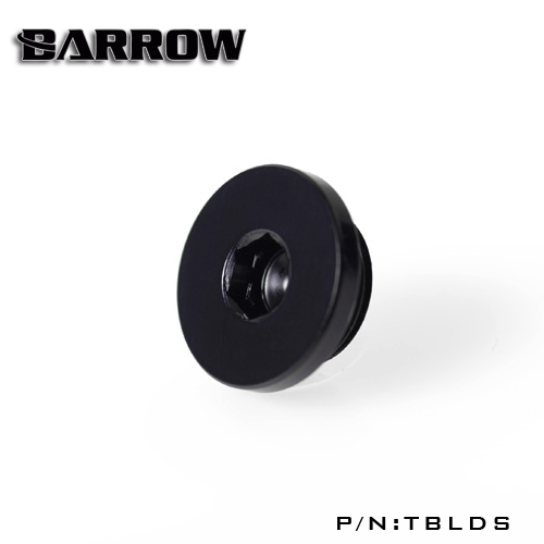 Barrow G1 / 4  Black Silver Hand tighten the lock seal sealing plug water cooling computer fittings TBLDS barrow g1 4 white black silver gold board cross water inlet water fill in port for computer water cooling use tcdzs v1