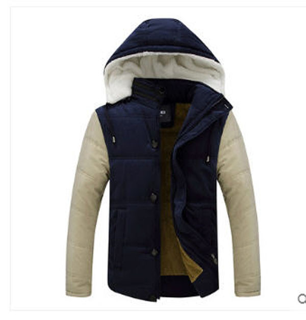 Roupas Masculinas 2014 Young Mens Winter Slim Cotton Jacket Man  Thick Plus Velvet Plus Size Hooded  Parkas Coat Outwear S911 батарейка d navigator alkaline 94 755 lr20 2bl 2 штуки