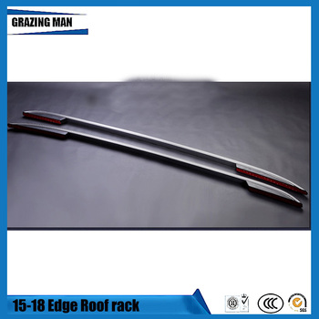 Luggage Baggage Roof Rack Rail Bar Carrier for Ford EDGE 2015-2018 YEAR Aluminum alloy material stick model style