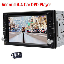 Hot sales! Double 2 din 6.2 inch HD Touch Screen  Android car dvd player GPS navigation Stereo Headunit Auto radio+ rear camera