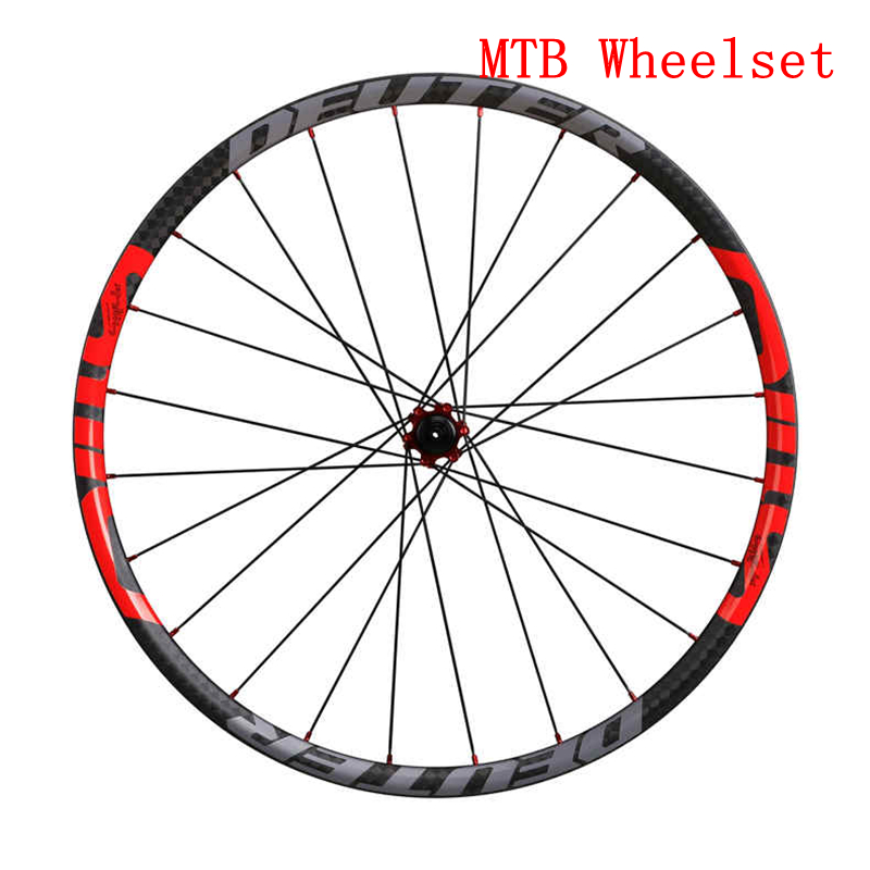 2017 New Mountain Bike Carbon Wheelset 26 / 27.5 ER Cycling MTB Bicycle Clincher Wheel 6 Color Compatible QR Axle Hubs Bike Part mountain bike four perlin disc hubs 32 holes high quality lightweight flexible rotation bicycle hubs bzh002