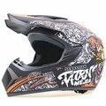 Ligero profesional off road moto casco aprobado por el DOT casco de la motocicleta bici de la suciedad cabezal de engranajes